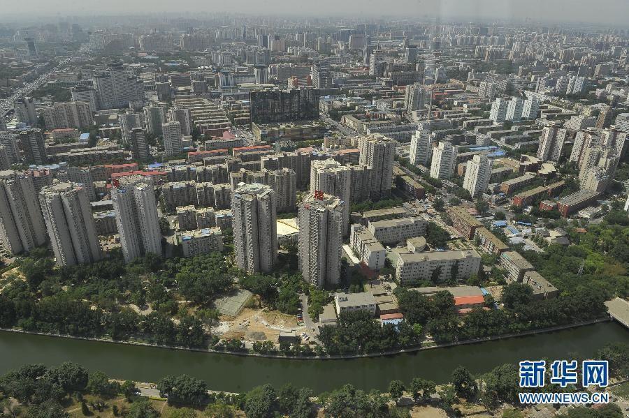 Вид на Пекин с пекинской телебашни