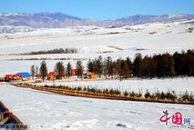 Величественные горы в СУАР Синьцзян после снегопада