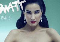 Красавица Дита фон Тиз на обложке модного журнала