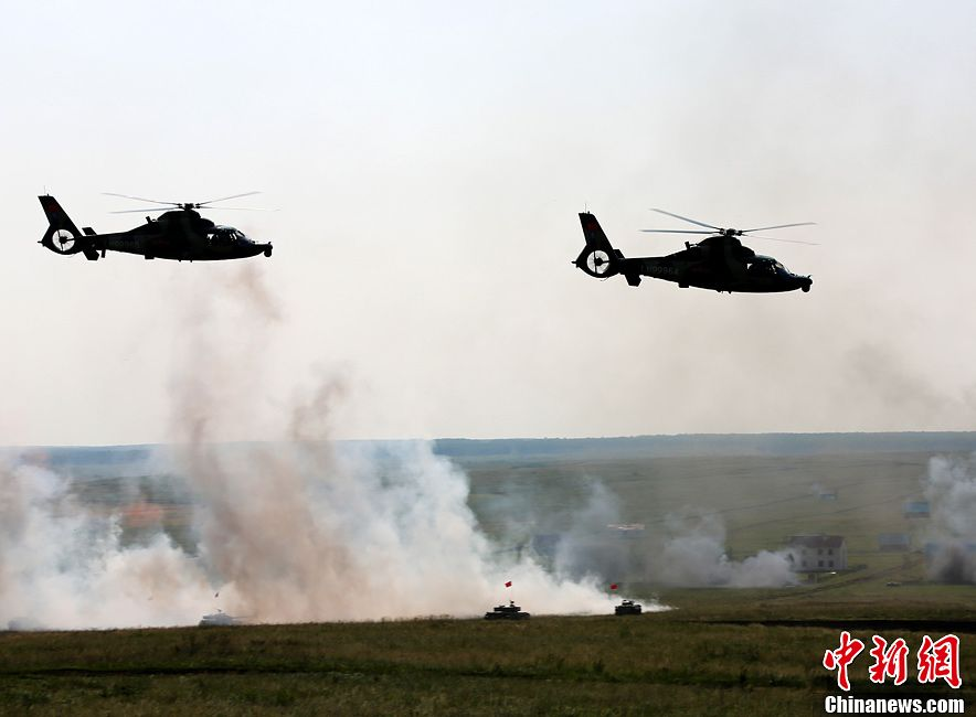 Войсковые маневры прошли в рамках военных учений «Мирная миссия – 2013»