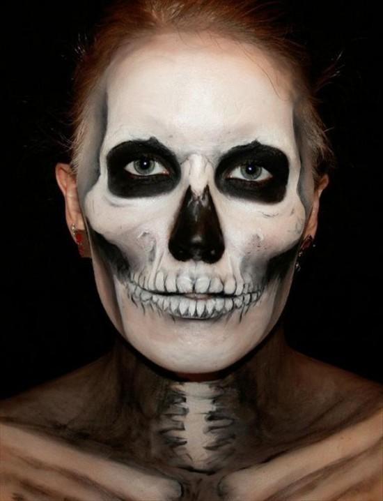 Раскраски лица на хэллоуин для мальчиков - 4