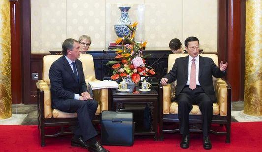 Вице-премьер Госсовета КНР Чжан Гаоли встретился с главой российской компании 'Роснефть' Игорем Сечиным