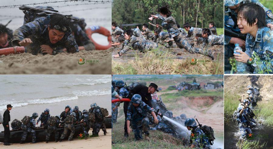 Суровые тренировки женской морской пехоты