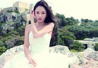 Фотографии красивой Чэнь Цяоэнь в свадебном платье