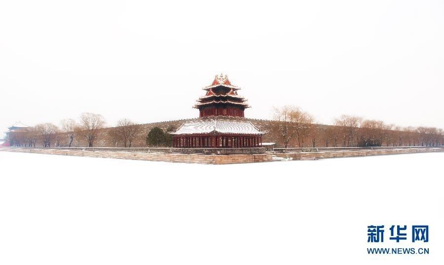 Величественный Пекин под первым снегом 2014 года