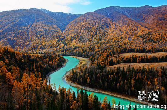 Очаровательные осенние пейзажи Канаса в Синьцзяне