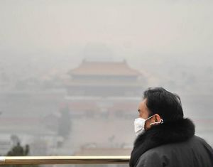 Около 980 тыс кв км территории Центрального и Восточного Китая оказались во власти смога