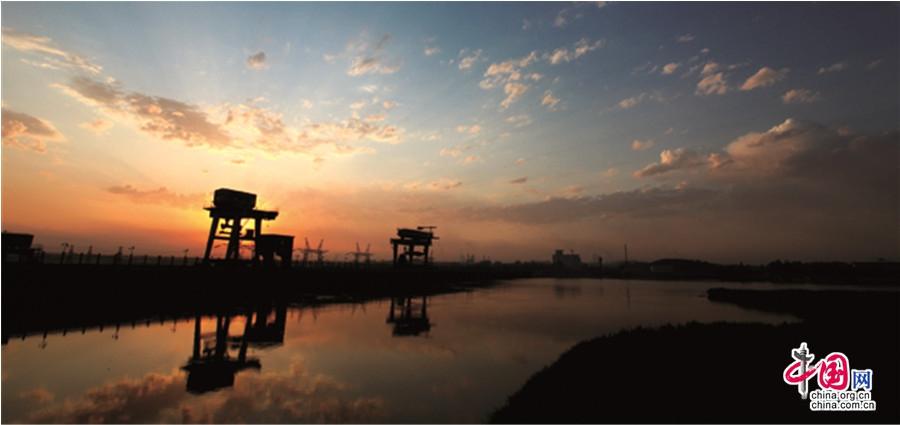 Прекрасные пейзажи города Цинтунся Нинся-Хуэйского автомного района