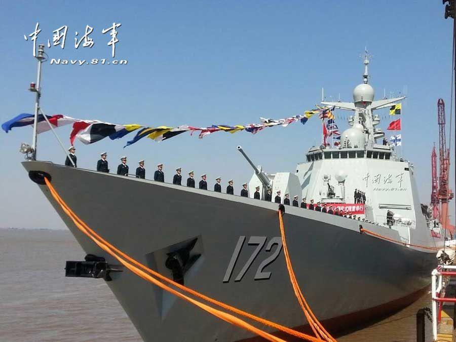 Новый ракетный эсминец сдан на службу ВМС Китая