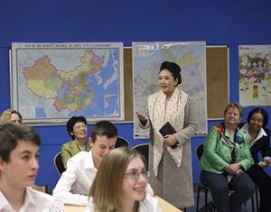 Пэн Лиюань в немецкой школе рассказала о «китайской мечте»