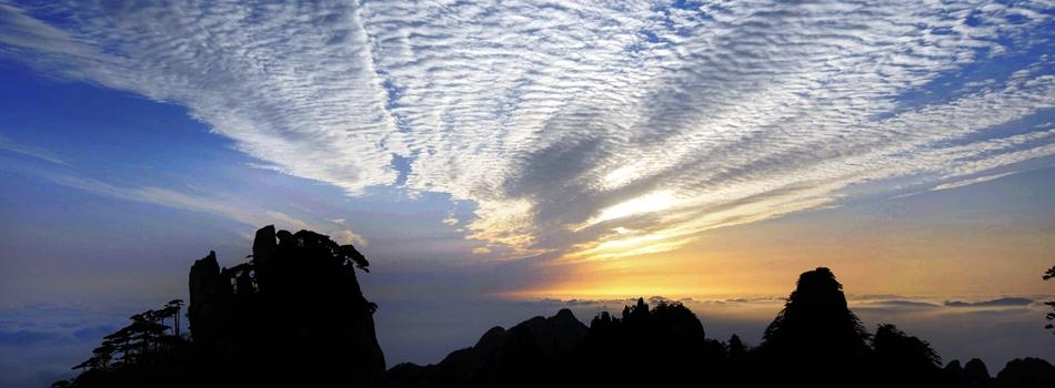 Весенняя пейзажная живопись - море облаков в горах Хуаншань