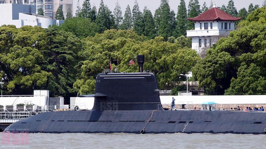 Появились новые фотографии атомной подводной лодки Китая 093В