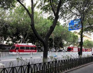 В Урумчи произошел взрыв автомобилей, есть пострадавшие