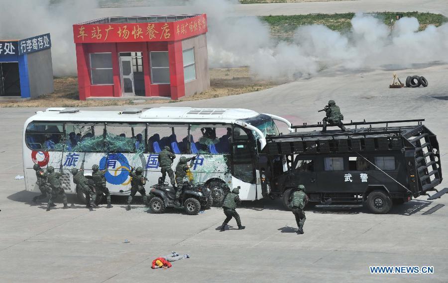 В Пекине состоялись комплексные антитеррористические учения