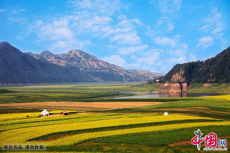 Чарующее море цветов рапса в г. Цзиань провинции Цзилинь