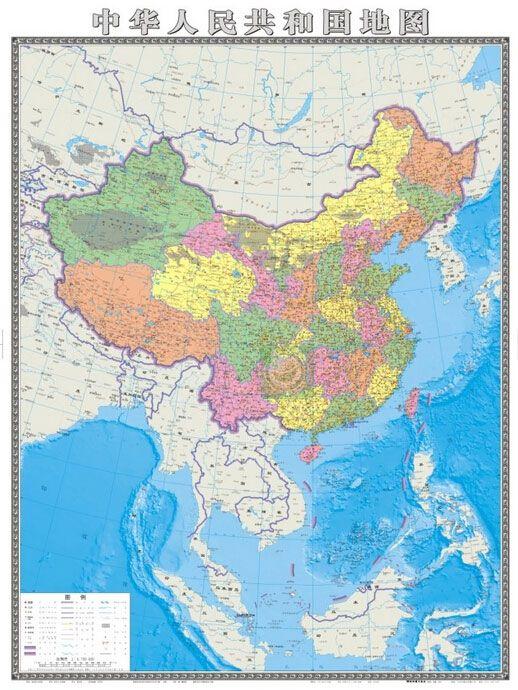 В Китае впервые выпущена карта КНР, на которой континентальная часть страны и территориальная акватория в Южно-Китайском море обозначены в одинаковом масштабе