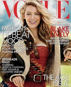 Блейк Лайвли (Blake Lively) украсила обложку журнала «Vogue»