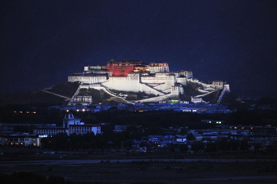 Ночные пейзажи Дворца Потала