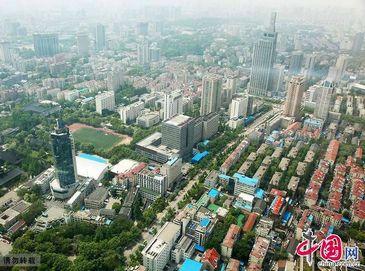 Городские пейзажи Нанкина с высоты птичьего полета