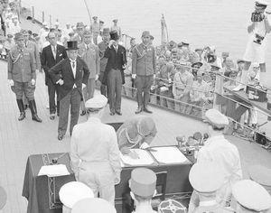 Исторические снимки показывают поражение Японии во Второй мировой войне