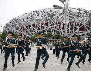 Выступление военного оркестра России в Китае привлекло внимание общественности