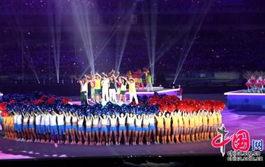 Художественные выступления на церемонии закрытия Вторых Юношеских олимпийских игр в Нанкине