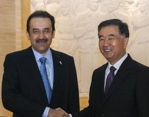 Ван Ян встретился с гостями из Казахстана, Кыргызстана и Грузии
