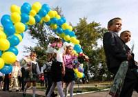 Первый день нового учебного года: учащиеся на Украине возвратились в школы