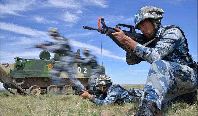 Обзор фотографий с военных учений «Мирная миссия – 2014»