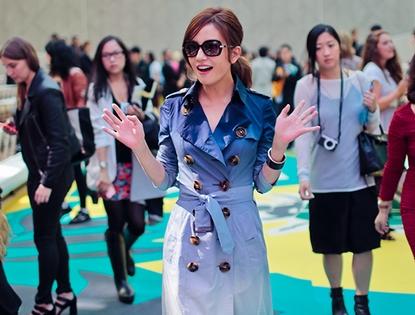 Изящные формы похудевшей Чжао Вэй на лондонской Неделе моды