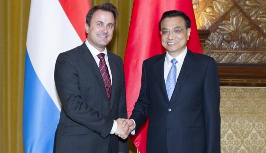 Ли Кэцян встретился с премьер-министром Люксембурга Ксавье Беттелем