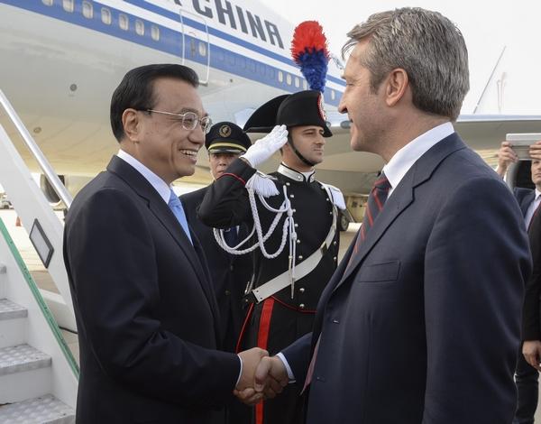 Ли Кэцян прибыл в Италию с официальным визитом