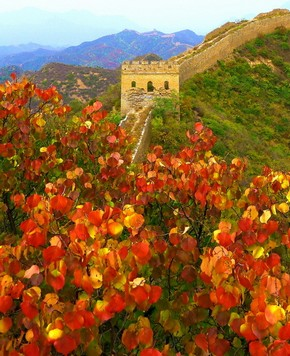 Фото: Прекрасные осенние пейзажи участка Великой китайской стены Цзиньшаньлин