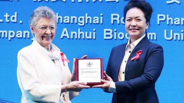 Пэн Лиюань присутствовала на церемонии открытия Конференции по вопросам ВИЧ/СПИДа 2014