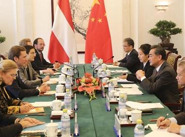 Ван И провел переговоры с министром иностранных дел Австрии