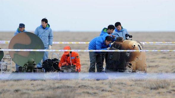 Спускаемый аппарат китайского экспериментального возвращаемого лунного спутника совершил успешную посадку в назначенный район приземления