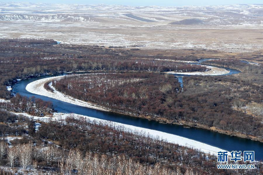 Пейзажи степи Хулунбуир в начале зимы