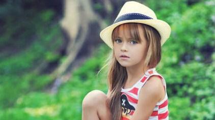 Русская девятилетняя девочка стала международной супермоделью