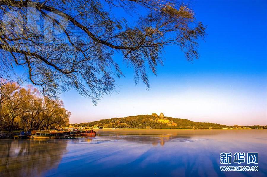 Зимние пейзажи в летнем дворце Ихэюань