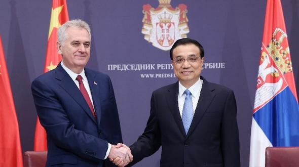 /Визит/ Ли Кэцян встретился с президентом Сербии Т.Николичем