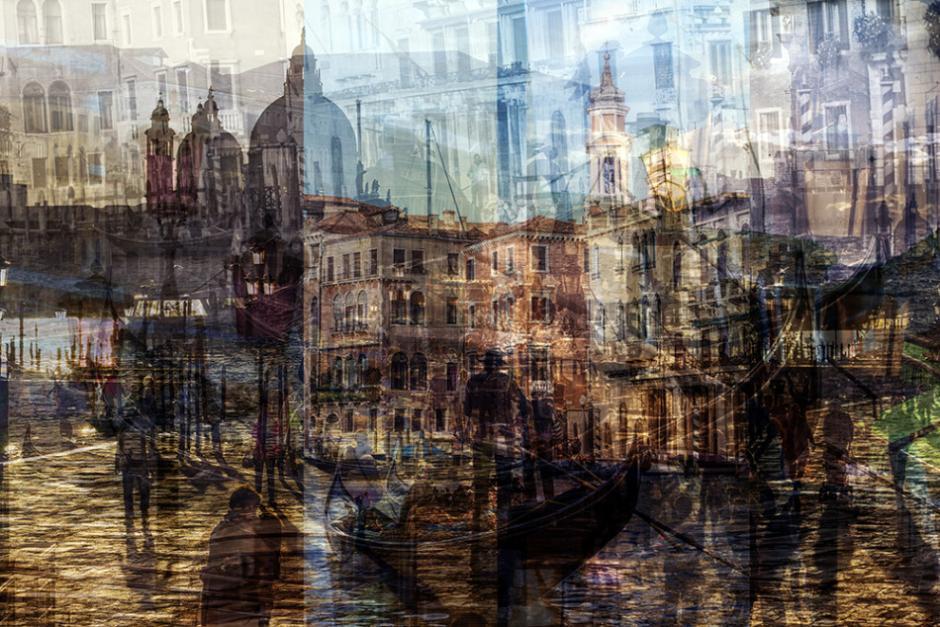 Фото 'психоделической улицы' с разной выдержкой