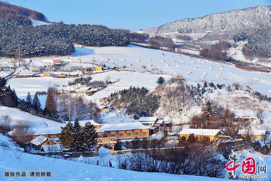 Очаровательные зимние пейзажи села Сунлин провинции Цзилинь