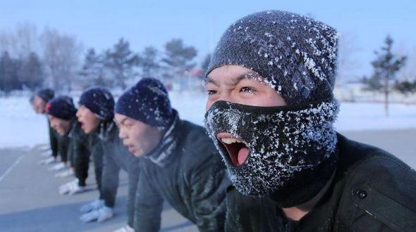 Пограничники провинции Хэйлунцзян тренируются при -20 ℃