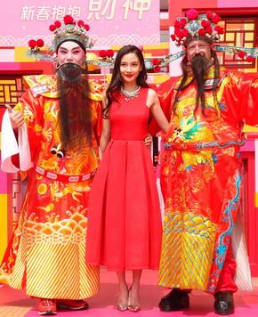 Красавица Angelababy на мероприятии, посвященном Китайскому новому году