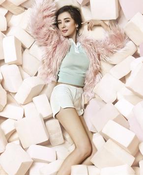 Новейшие фотографии Ян Ми на обложке журнала