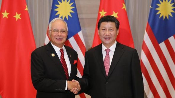 Председатель КНР Си Цзиньпин встретился с премьер-министром Малайзии Н. Разаком