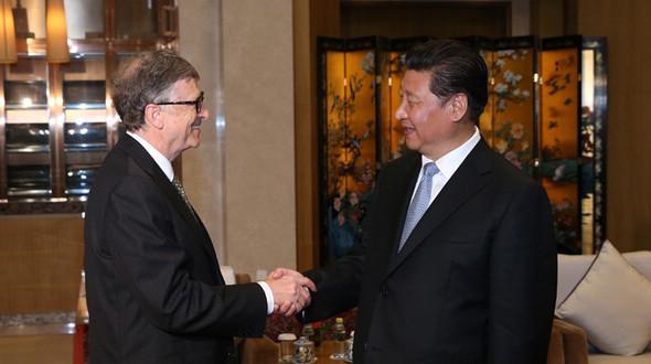 Председатель КНР Си Цзиньпин встретился с председателем Фонда Билла и Мелинды Гейтсом Биллом Гейтсом