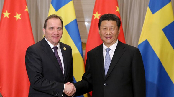 Председатель КНР Си Цзиньпин встретился с премьер-министром Швеции