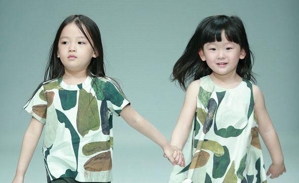 Маленькие модели на Неделе моды в Пекине