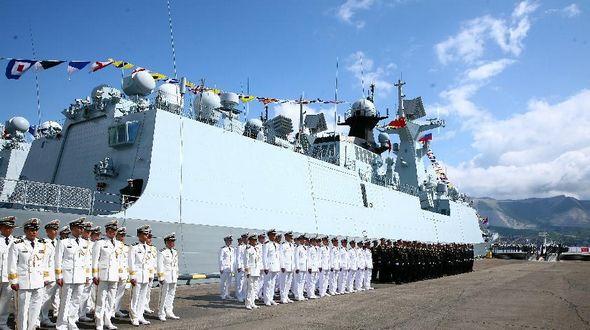 Начались китайско-российские совместные военные учения ?Морское взаимодействие-2015(Ⅰ)?